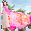 Scarf / silk scarf / Shawl polyester Datura rose red gold balan yellow Datura Pink Purple Gold balan rose red Datura orange red gold balan Mibai ebony tender pink orange golden balan tender pink grey purple fragrant yellow Xuan Ji exquisite looking for green Spring and autumn, summer and winter Shawl