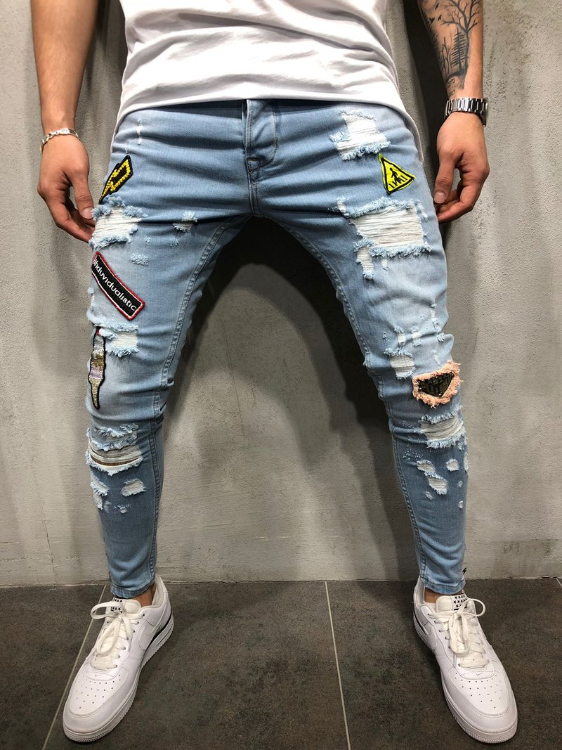 Jeans Youth epidemic 2006 light blue sisibalution S M L XL 2XL 3XL conventional Micro-bomb Conventional denim two thousand and six tourism trousers