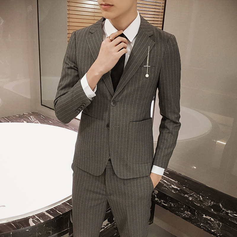 Suit Fashion City Ogesi Coffee (pants + suit) 180/100B routine one thousand nine hundred and ninety-seven Polyethylene terephthalate (PET) 69% viscose fiber (viscose fiber) 29% polyurethane elastic fiber (spandex) 2% Autumn of 2018 Exclusive to tmall (only sold in tmall) Corduroy