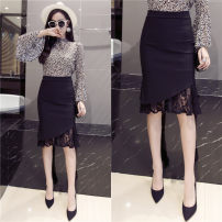 skirt Fall 2017 S M L XL 2XL 868 # black [counter quality] Middle-skirt Versatile Natural waist skirt Solid color Type H 18-24 years old 51% (inclusive) - 70% (inclusive) knitting Viscose Resin fixation 401g / m ^ 2 (inclusive) - 500g / m ^ 2 (inclusive)