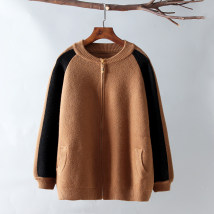 Wool knitwear Autumn of 2018 Average size Caramel white grey Long sleeves singleton  Cardigan other 31% (inclusive) - 50% (inclusive) Regular thick