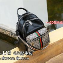 Backpack cowhide Other / other black brand new in zipper leisure time Three Street trend soft youth yes Soft handle written words Yes female Water splashing prevention Vertical square Net bag zipper hidden bag mobile phone bag certificate bag sandwich zipper bag camera insert bag polyester cotton no