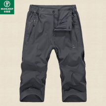 Casual pants Youth epidemic gray NIANJEEP/Jeep Shield M thin High elasticity fzc1256 Summer of 2018