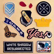 Cloth stickers Rectangle color bird badge white character black background long eye long arrow round badge Sky Blue Shield badge crown British wind shield arrow Star Wing set 9 cheaper DIY