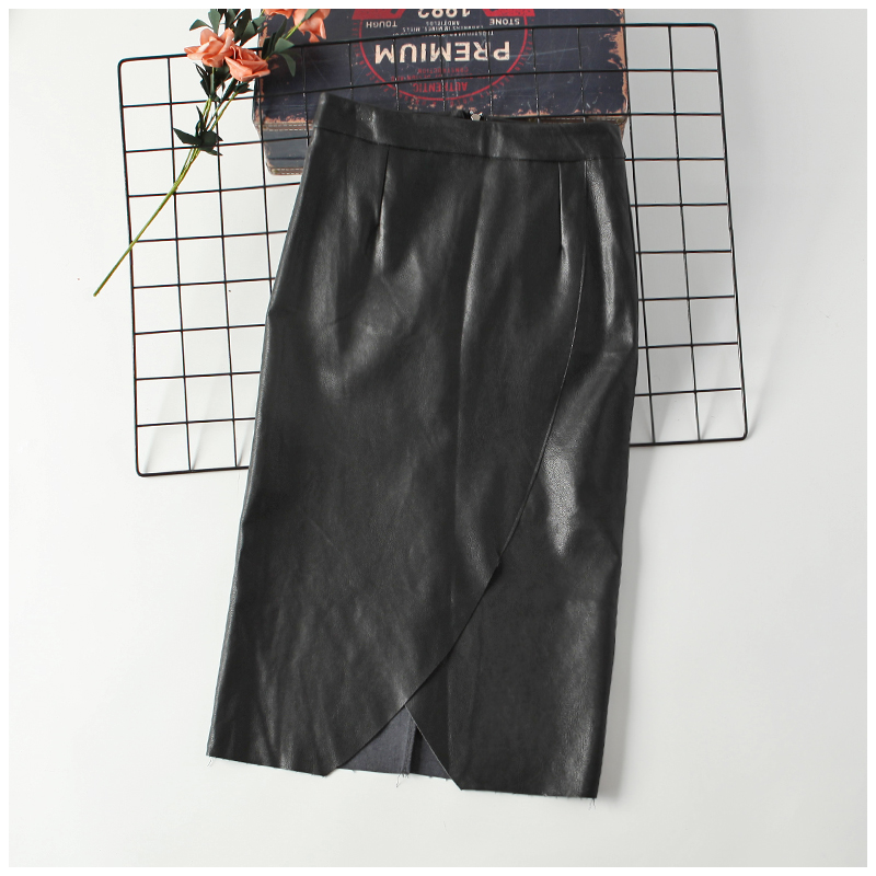 skirt Autumn of 2018 S black Middle-skirt commute High waist skirt 18-24 years old 0902125 31% (inclusive) - 50% (inclusive) other PU Korean version