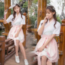 National costume / stage costume Summer of 2018 Two piece suit with top and skirt only S M L 18-25 years old cotton 71% (inclusive) - 80% (inclusive)