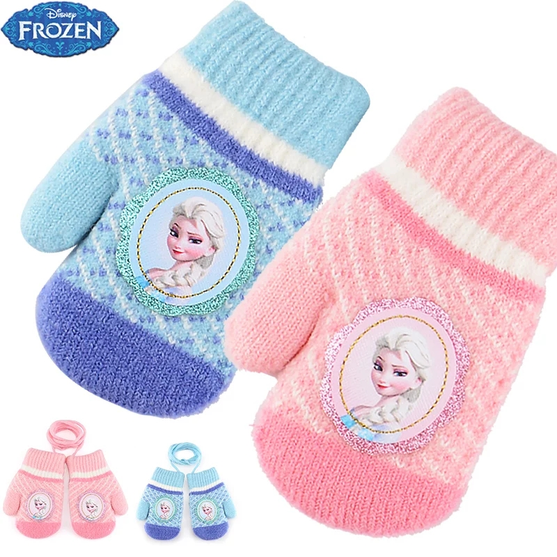 glove Ds2f007-1 ice and snow powder mittens ds2f007-2 ice and snow blue Mittens It is recommended to be 3-6 years old Mitten female Disney acrylic fibres DS2F007