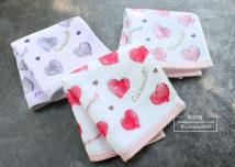 Handkerchief / handkerchief Grey powder small square towel light grey purple small square towel peach red small square towel 24x25cm 26G