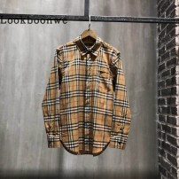 shirt Youth fashion Others XS S M L XL 2XL Decor routine Long sleeves square neck easy Other leisure spring bbl001 teenagers Cotton 100% like a breath of fresh air 2018 lattice Plaid No process cotton other Antifouling and waterproof More than 95%