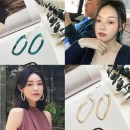 Earrings 30-39.99 yuan other Other/others Off white - spot emerald - spot brand new Female Spot Freshly baked Unmounted