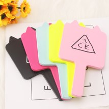 Make up mirror Light blue rose red fluorescent yellow pink black Handle mirror Personal washing / cleaning / care Without light A-Life ABS Dressing Room like a breath of fresh air Coloured mirror Korean style Asia Hong Kong