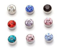 Ear Studs Synthetic cubic zirconia / water drill RMB 1.00-9.99 Other / other Black (1 pair) Royal Blue (1 pair) champagne (1 pair) light purple (1 pair) lake blue (1 pair) big red (1 pair) silver white (1 pair) 4 magnets brand new E9