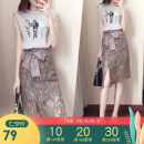 skirt Summer of 2018 S M L XL 2XL brown Middle-skirt commute Natural waist A-line skirt Solid color Type A 25-29 years old YX-QZ2077 More than 95% Lace cotton Lace up zipper Korean version