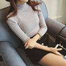 Wool knitwear Autumn of 2018 Xxss pre sale average White Gray Black Pink Long sleeves singleton  Socket other 91% (including) - 95% (excluding) Regular routine Self cultivation High collar Solid color 6834# 18-24 years old