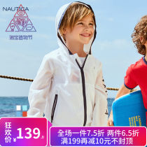 Plain coat Nautica / nodica neutral 110cm 120cm 130cm 140cm 150cm 160cm Deep orange pink white blue emerald green spring and autumn leisure time Zipper shirt There are models in the real shooting Thin money No detachable cap Solid color other KNA8S1OWKB0607 Polyester 100% Class A