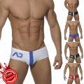Men's swimsuit Addtexod / Dions Fruit green blue dark blue red black white M L XL XXL Triangle swimming trunks Small 2 swimming Nylon spandex