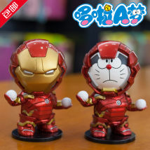 Doll / Ornament / hardware doll goods in stock Second generation iron man (white box) comic Japan Send transparent traceless 3M double sided adhesive PVC Doraemon / robotic cat Office ornaments, desktop ornaments, automobile ornaments static state Doraemon
