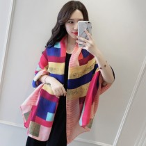 Scarf / silk scarf / Shawl polyester Spring and autumn, summer and winter female Scarves / scarves decorate Korean version rectangle Student youth middle age Geometric pattern printing 90cm 180cm