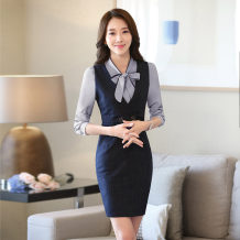 Professional dress suit S M L XL XXL XXL 4XL 5XL other sizes Spring 2017 Long sleeves 8759-2091 long shirt Suit skirt 25-35 years old