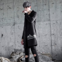 man 's suit Fashion City black Others routine S M L XL 2XL 3XL Polyolefin elastic fiber 70% triacetate fiber (triacetate fiber) 20% polyurethane elastic fiber (spandex) 10% Self cultivation Triple single breasted Other leisure No slits youth Long sleeves autumn Medium length tide Casual clothes