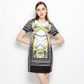 Dress Summer of 2018 Yellow flower S M L XL 2XL 3XL XS Short skirt singleton  Short sleeve middle-waisted 25-29 years old 9 Charms