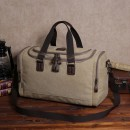 Men's bag The single shoulder bag canvas Other / other Khaki black brown army green brand new travel leisure time zipper soft large yes Zipper pocket, mobile phone bag, certificate bag Solid color nothing Single root youth Horizontal square polyester cotton Soft handle Inner patch pocket
