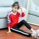 suit Other / other Red blue female spring and autumn motion Long sleeve + pants 2 pieces routine There are models in the real shooting Socket nothing