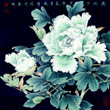Suzhou embroidery 30*30cm 35*35cm Simple and modern Flat needle embroidery Art decoration Bold embroidery sixty thousand and fifty-one