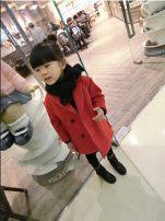 Plain coat Other / other female 90cm 100cm 110cm 120cm 130cm gules winter Korean version other other R2083