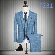 Suit Fashion City Others TZ31 TZ12 TZ30 TZ29 TZ32 TZ22 4XL 5XL 190/110(XXXL) 170/92A 175/96A 180/100A 185/104A routine Back middle slit Flat lapel autumn Self cultivation A single breasted button Other leisure Large size Exquisite Korean style Regular collar (collar width 7-9cm) houndstooth  cotton