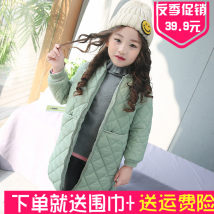 Cotton padded jacket Other / other Black light green pink Size 100 for height 90cm Size 110 for height 100cm Size 120 for height 110cm Size 130 for height 120cm size 140 for height 130cm size 150 for height 140cm size 160 for height 150cm nothing Cotton 96% and above female routine Zipper shirt other
