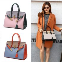 Bag The single shoulder bag PU Birkin  Retro Hermes brand new Sweet Lady  in leisure time soft no Solid color Single root One shoulder cross carry