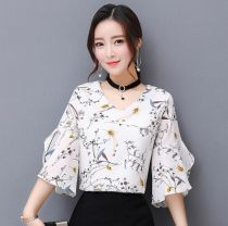Lace / Chiffon Summer of 2018 White flower wholesale price package promotion, limited quantity, white yellow dark blue M L XL 2XL 3XL 4XL Short sleeve