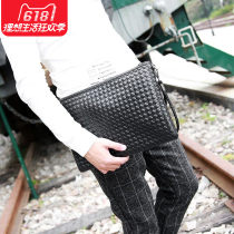 Men's bag clutch bag PU Other / other Small size will be delivered on June 10, large size can put iPad brand new leisure time Japan and South Korea zipper soft in yes Zipper pocket, mobile phone bag, certificate bag Solid color nothing Strapless youth Horizontal square cotton weave Soft handle