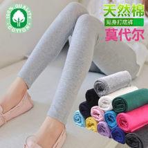 Leggings Summer of 2018 Milky light grey black Navy dark grey Thin money Capris / Capris Leggings Berenfeld pure cotton 81% (inclusive) - 90% (inclusive)