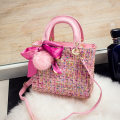Bag Inclined shoulder bag polyester fiber Princess Dai Bao Dylan Crowe Black Pink brand new like a breath of fresh air Small other soft zipper yes Solid color Double root Inclined shoulder bag other flower Soft handle polyester fiber mobile phone bag A18002 woollen cloth Open your pocket