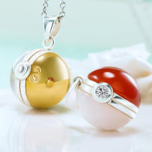 Cartoon watch / Necklace / Jewelry Over 14 years old Magic Baby / Pokemon series Necklace / Pendant GS ball spirit ball Wax rope version silver chain version silver chain lengthening version silver chain lengthening and thickening version goods in stock Fairy Ball currency Japan silver Box animation