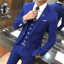 Suit Youth fashion Others S 3-piece set [90-100kg] m 3-piece set [100-115kg] l 3-piece set [115-125kg] XL 3-piece set [125-140kg] XXL 3-piece set [140-155kg] 3XL 3-piece set [155-170kg] pants size can be noted 28-35 routine No slits Baling collar Four seasons Self cultivation Triple double breasted