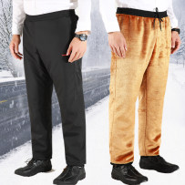 cotton-padded trousers Business gentleman LK&VS 4XL 1022 / women's black one thousand and twelve Polyester 100% Compressed cotton Winter of 2018 Pure e-commerce (online only)