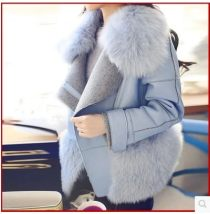 woolen coat Winter of 2018 XS S M L XL 2XL Macarone blue other 30% and below routine Long sleeves commute zipper routine Polo collar Solid color