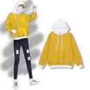 T-shirt Pink yellow grey Average size Autumn of 2018 Long sleeves Fake two pieces Regular commute cotton 31% (inclusive) - 50% (inclusive) Simplicity
