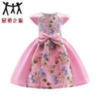 Dress Red, blue, blue, B, pink, pink, pink, red, rose red. 100, 110, 120, 130, 140, 150 Other/others 100% cotton Female All seasons Europe and America other cotton one thousand seven hundred and seventy-two other Class B