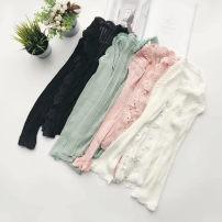 short coat Summer of 2018 S M L Pink bean green white black Long sleeves Thin money