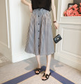 skirt Summer of 2018 Average size Black dark brown Mid length dress commute High waist other lattice Type A 71% (inclusive) - 80% (inclusive) Xiaonanjia other Button Korean version