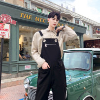 Casual pants Others Youth fashion black M L XL routine trousers Other leisure easy No bullet Four seasons teenagers Hip hop 2018 High waist Little feet Conjoined Solid color