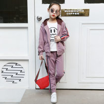 suit Qiligang Yellow pink 110cm 120cm 130cm 140cm 150cm 160cm female spring and autumn motion Long sleeve + pants 2 pieces routine There are models in the real shooting Zipper shirt nothing other Pure cotton (100% cotton content) Ribbon suit Class C Cotton 76.8% others 23.2%
