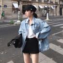 short coat Summer of 2018 S M L Light denim blue dark jean blue black Long sleeve conventional conventional Single Straight conventional Commuting