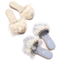 Sandals S (suggested size 35) m (suggested size 36-37) l (suggested size 38) ll (suggested size 39) Light blue off white volimte cloth Barefoot cloth