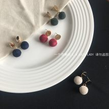 Earrings Mixed materials RMB 20-24.99 Pada Cream red green royal blue brand new female Japan and South Korea goods in stock Fresh out of the oven Not inlaid other