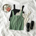 Vest sling Summer of 2018 White green black Average size singleton  routine easy commute I-shaped 18-24 years old 96% and above polyester fiber Button